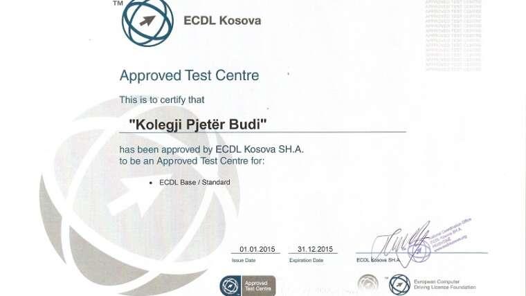 """Kolegji """"Pjetër Budi"""" hapi Qendrën Trajnuese për modulet e ECDL-së"""