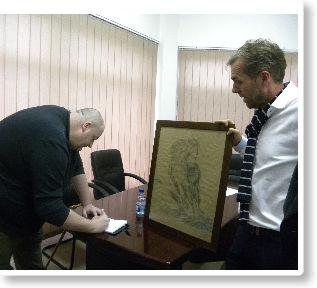 """Jonathan Harrison, veteran i Ushtrisë Çlirimtare të Kosovës, vizitoi Kolegjin """"Pjetër Budi"""""""