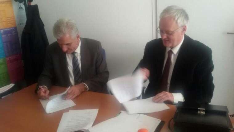 """Kolegji """"Pjetër Budi"""" arrin marrëveshje bashkëpunimi me Universitetin Mediteran"""