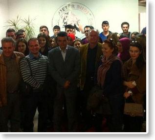 """Studentë dhe profesorë të USHT-së vizituan Kolegjin """"Pjetër Budi"""""""