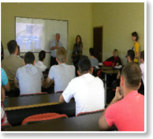 "EULEX officials held a lecture at the College ""Pjetër Budi"""