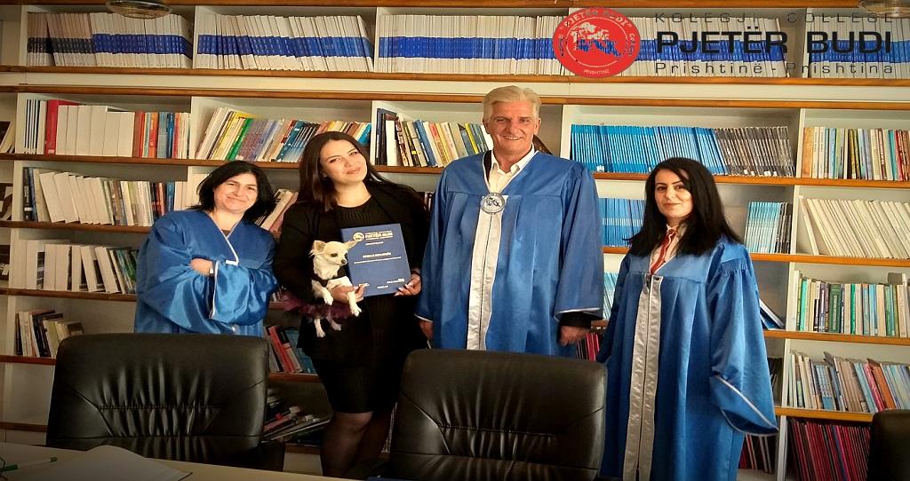 "Former student of ""Pjetër Budi"" college, Sellma Miftari is employed in Germany."