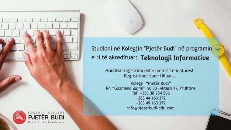 """Studioni në programin e ri të akredituar """"Teknologji Informative"""""""