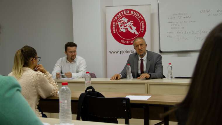 Debate with our students and with the owner of the company Meka Halal Food, Mr. Burim Piraj