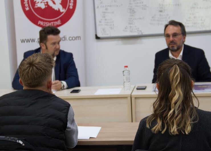 A debate with the Head of the Kosovo Producers Club, Mr Berat Mustafa