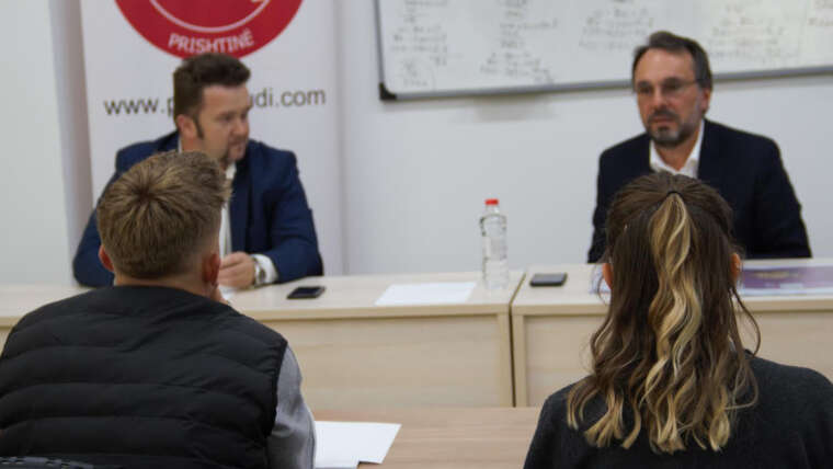 A debate with the Head of the Kosovo Producers Club, Mr Berat Mustafa
